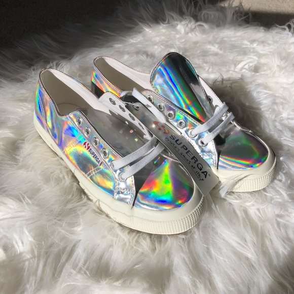 Rare Superga Holographic Shoes Nwt